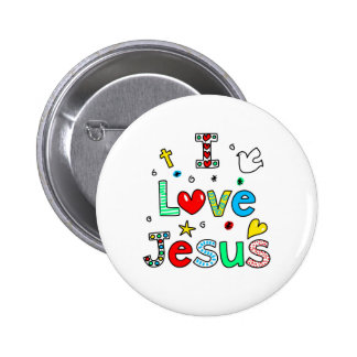 I Love Jesus 2 Inch Round Button