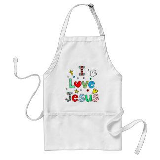 I Love Jesus Adult Apron