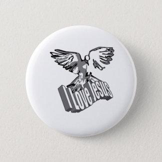 I Love Jesus Badge Pinback Button