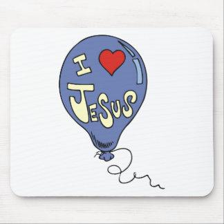 I Love Jesus Balloon Mouse Pad