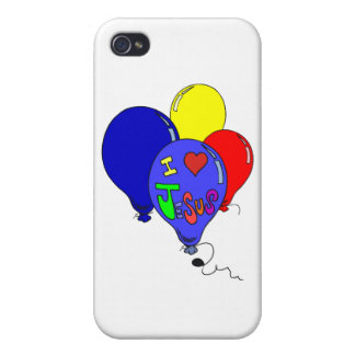 I Love Jesus Balloons Case For iPhone 4
