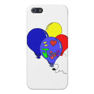 I Love Jesus Balloons Cover For iPhone SE/5/5s