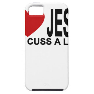 I Love Jesus but I cuss a little T-Shirt ''.png iPhone 5 Cover