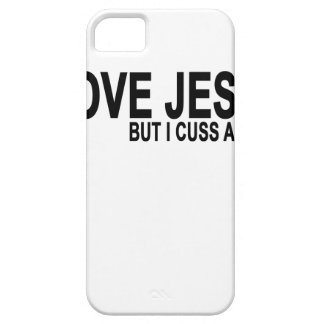 I Love Jesus but I cuss a little T-Shirt.png iPhone 5 Cover