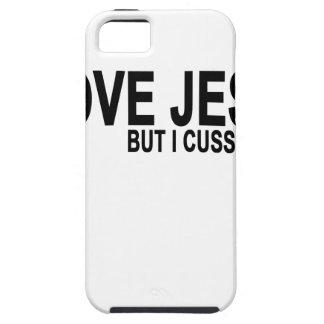 I Love Jesus but I cuss a little T-Shirt.png iPhone 5 Case