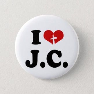 I Love Jesus Christ Pinback Button