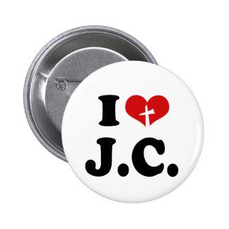 I Love Jesus Christ Pinback Button