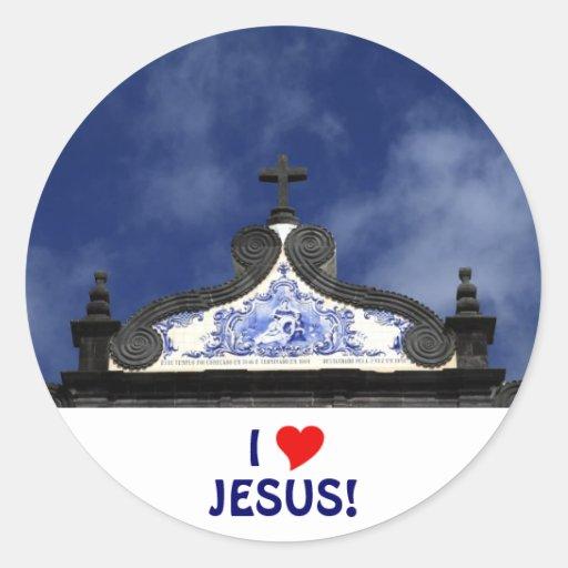 I Love Jesus! Classic Round Sticker