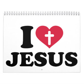 I love Jesus cross Calendar
