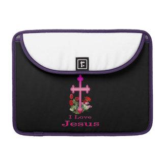 I love Jesus cross gifts Sleeve For MacBook Pro