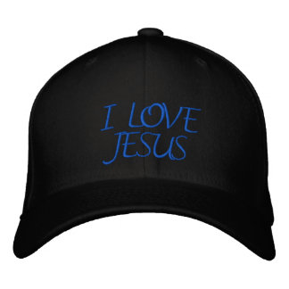 I LOVE JESUS EMBROIDERED HATS