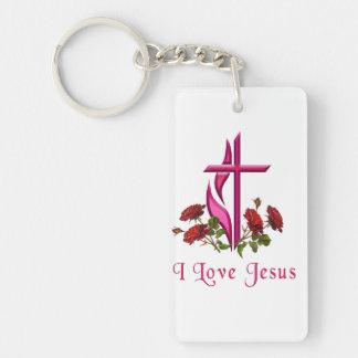 I love Jesus gifts Keychain