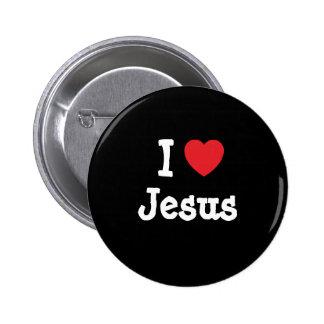 I love Jesus heart custom personalized Pinback Button