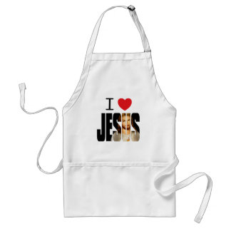 I Love Jesus - I Heart Jesus with image in name Adult Apron