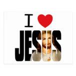 I Love Jesus - I Heart Jesus with image in name Postcard