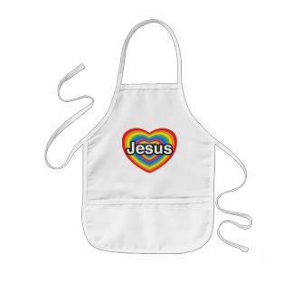 I love Jesus. I love you Jesus. Heart Kids' Apron