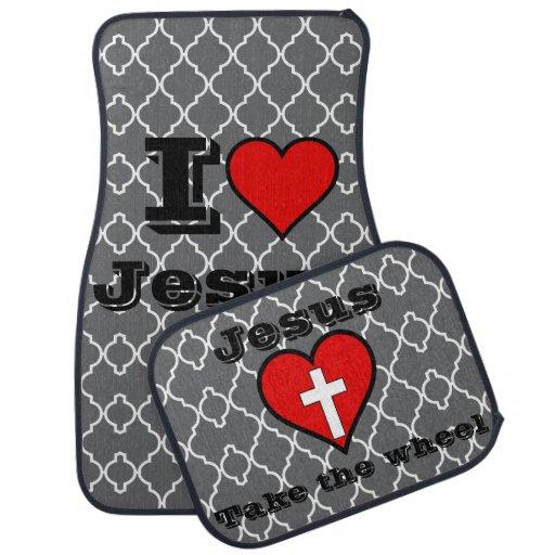 I Love Jesus Jesus Take The Wheel Car Mats Floor Mat Zazzle