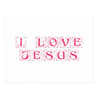 I-love-Jesus-kon png Tarjetas Postales