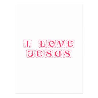 I-love-Jesus-kon png Tarjeta Postal