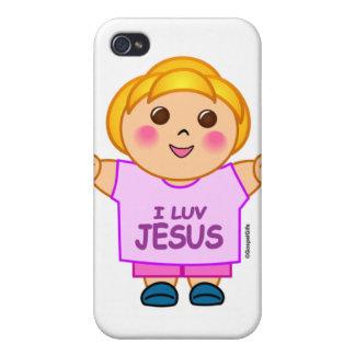 I love Jesus little girl religious gift design Case For iPhone 4