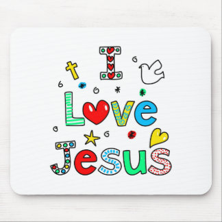I Love Jesus Mouse Pad