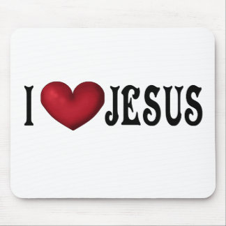 I Love Jesus Mousepad