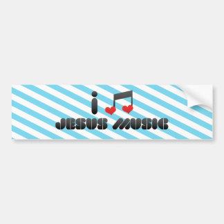 I Love Jesus Music Bumper Sticker