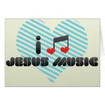 I Love Jesus Music Cards