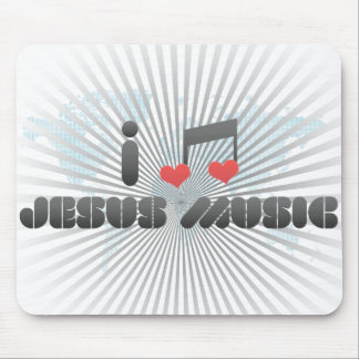 I Love Jesus Music Mouse Pad
