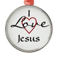 I love Jesus Ornament