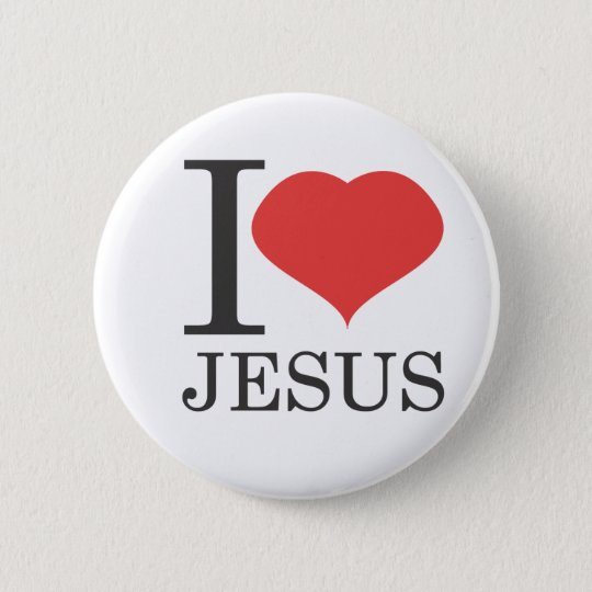 I love JESUS Pinback Button