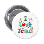 I Love Jesus Pinback Buttons