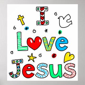 I Love Jesus Print