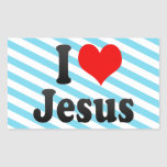 I love Jesus Rectangular Sticker