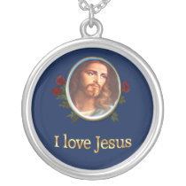 I love Jesus Silver Plated Necklace