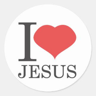 I love JESUS Classic Round Sticker
