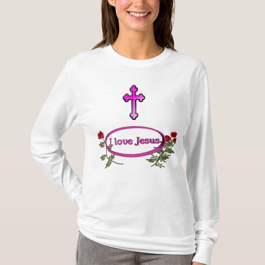 I love Jesus womans clothing T-Shirt - Best Selling Long-Sleeve Street Fashion Shirt Designs