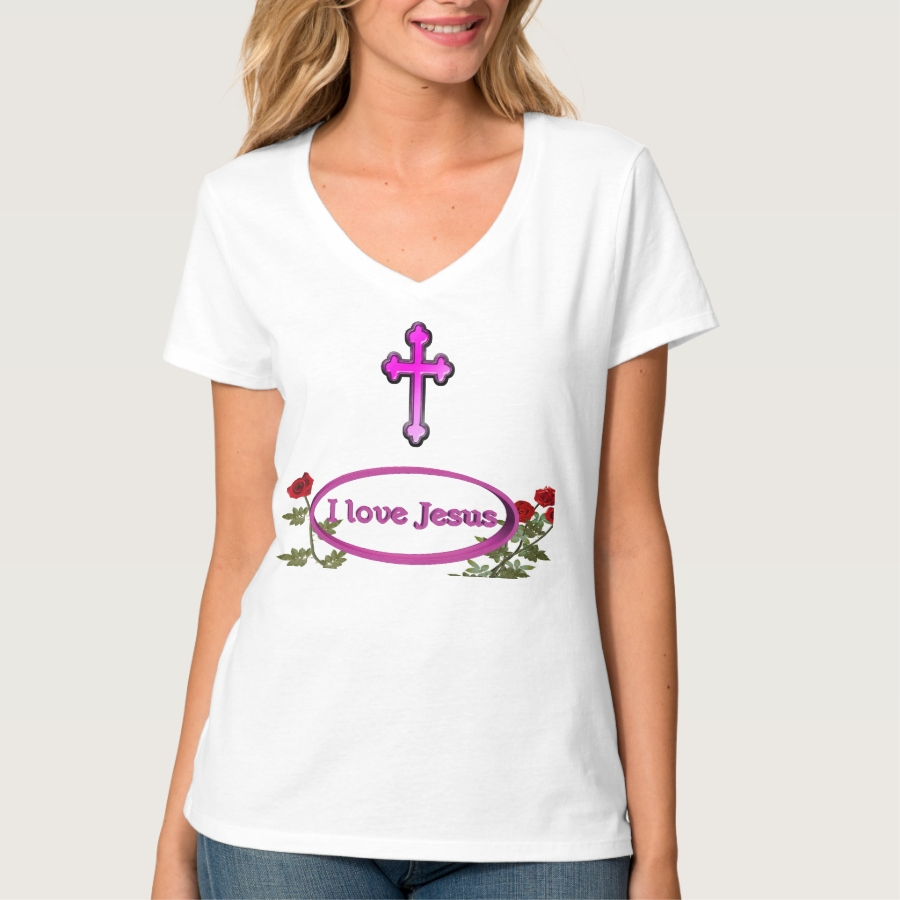 I love Jesus womans clothing T-Shirt - Best Selling Long-Sleeve Street Fashion Shirt Designs