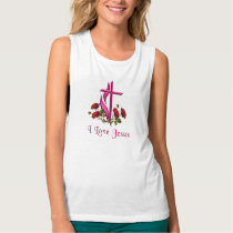 I love Jesus Womans clothing Tank Top