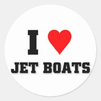 I love Jet Boats Classic Round Sticker