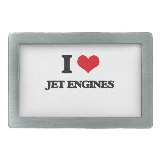 I Love Jet Engines Rectangular Belt Buckle