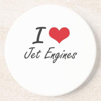 I Love Jet Engines Drink Coaster