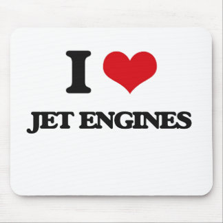 I Love Jet Engines Mouse Pad