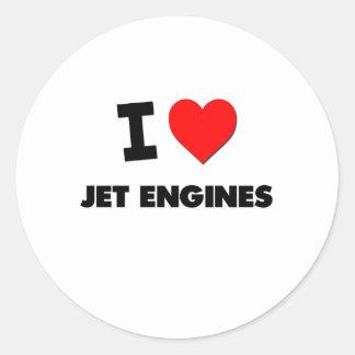 I Love Jet Engines Sticker