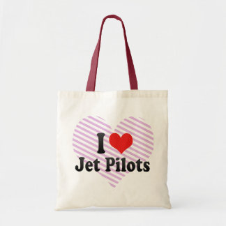 I Love Jet Pilots Tote Bag