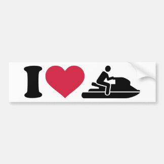I love Jet ski racing Bumper Stickers