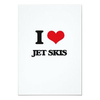 I Love Jet Skis 3.5x5 Paper Invitation Card