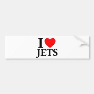 I Love Jets Bumper Stickers