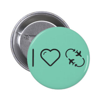 I Love jetsetting 2 Inch Round Button