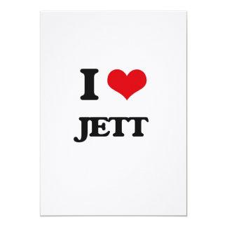 I Love Jett 5x7 Paper Invitation Card